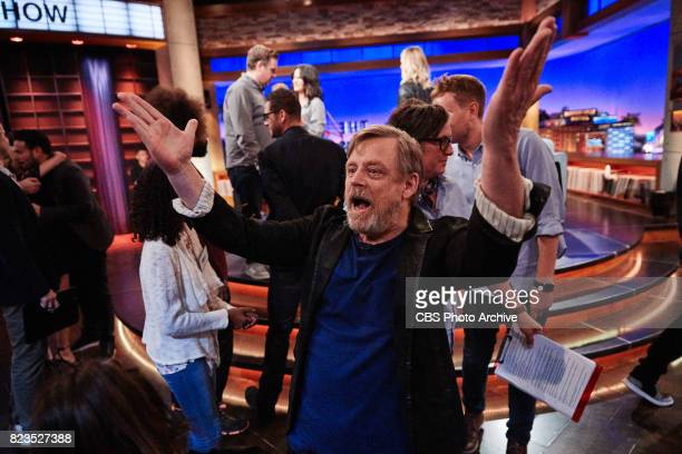 """Mark Hamill greets the audience during """"The Late Late Show with James Corden,"""" Monday, July 24, 2017 On The CBS Television Network."""