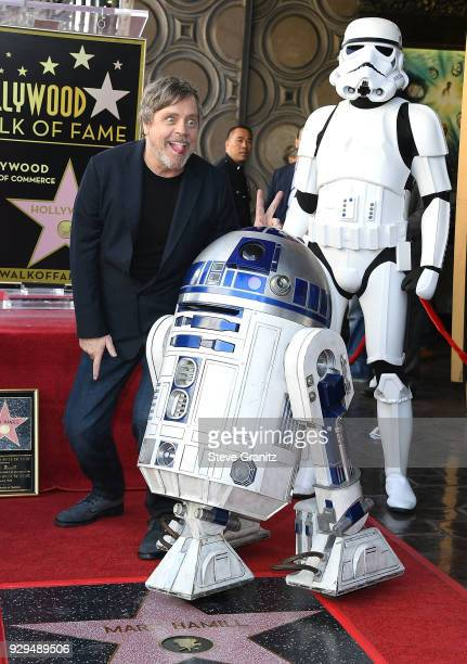 Mark Hamill Honored With Star On The Hollywood Walk Of Fame on March 8 2018 in Hollywood California