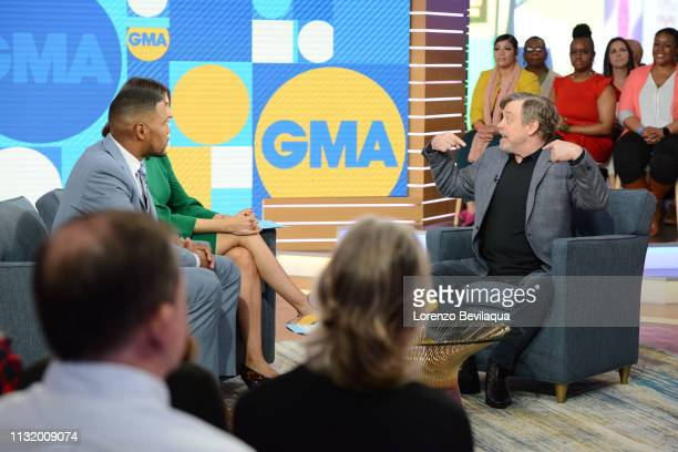 Mark Hamill is a guest on 'Good Morning America' Friday March 22 airing on the ABC Television Network GMA19 MICHAEL