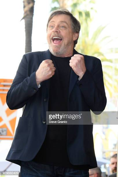 Mark Hamill is honored with a star on the Hollywood Walk of Fame on March 8 2018 in Hollywood California