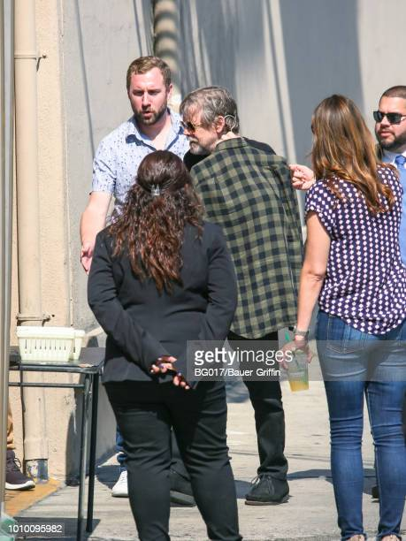 Mark Hamill is seen arriving at 'Jimmy Kimmel Live' on August 02 2018 in Los Angeles California