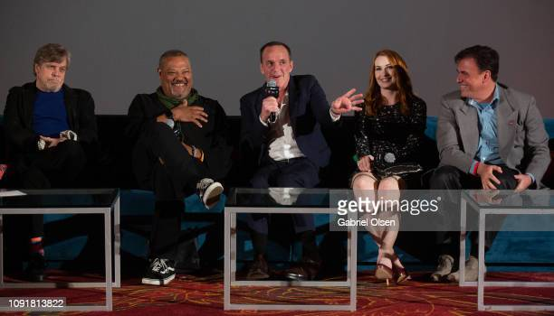 Mark Hamill Laurence Fishburne Clark Gregg Felicia Day and Tom Desanto attend Excelsior A Celebration of The Amazing Fantastic Incredible and Uncanny...
