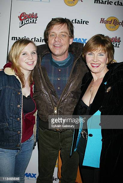 Mark Hamill Mary Lou Hamill Ch during Miramax Premiere of Jersey Girl at Ziegfeld Theater Hard Rock Cafe in New York New York United States