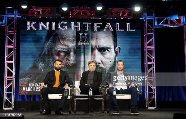 Mark Hamill of the television show 'Knightfall' attends the History Channel segment of the 2019 Winter Television Critics Association Press Tour at...