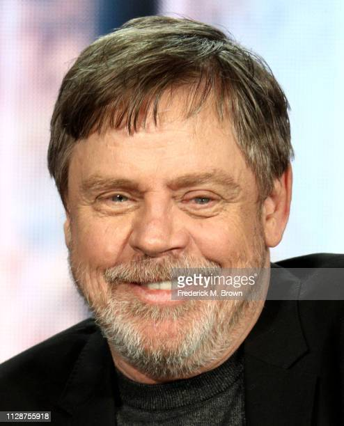 Mark Hamill of the television show 'Knightfall' speaks during the History Channel segment of the 2019 Winter Television Critics Association Press...