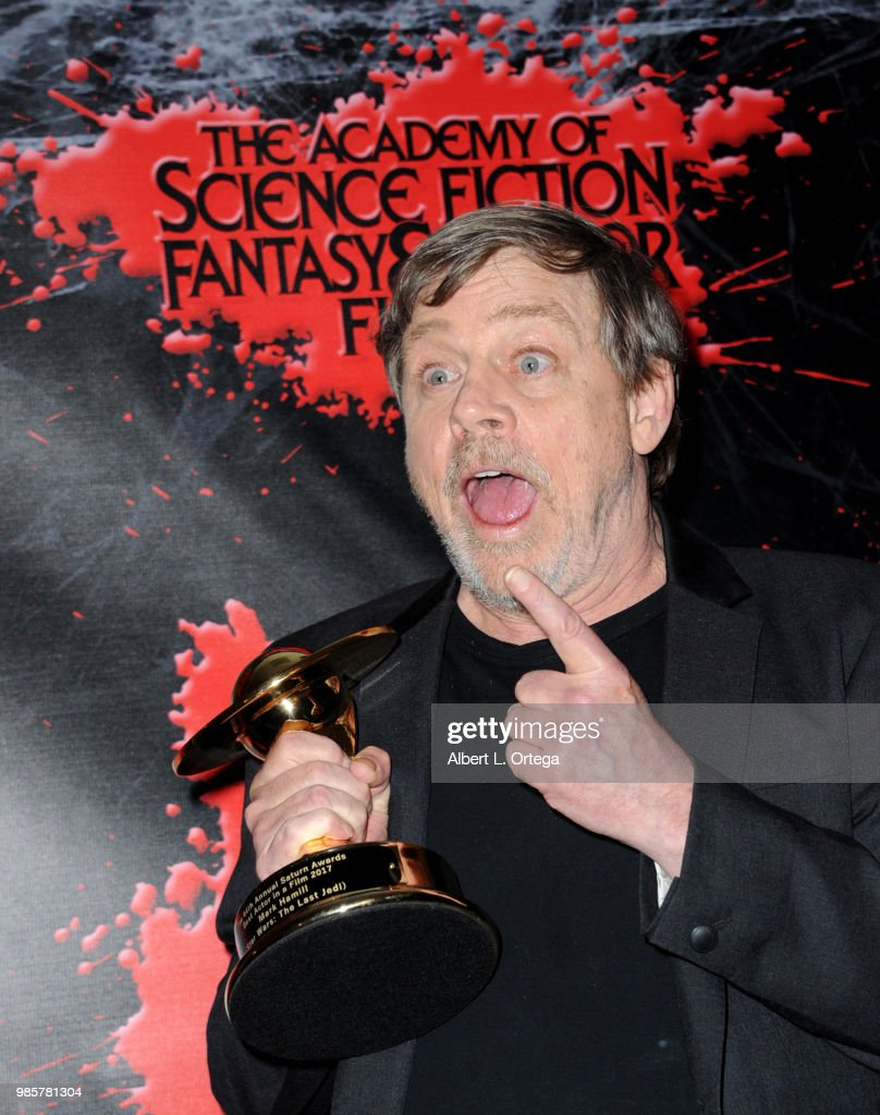 Mark Hamill poses in the press room at the Academy Of Science Fiction, Fantasy & Horror Films' 44th Annual Saturn Awards at The Castaway on June 27, 2018 in Burbank, California.