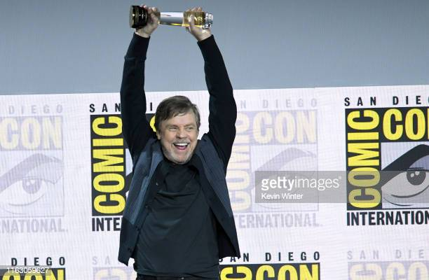 Mark Hamill speaks at the Netflix's The Dark Crystal Age Of Resistance Panel during 2019 ComicCon International at San Diego Convention Center on...