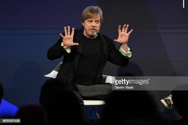 Mark Hamill speaks onstage at the ONWARD17 Conference Day 2 on November 2 2017 in New York City