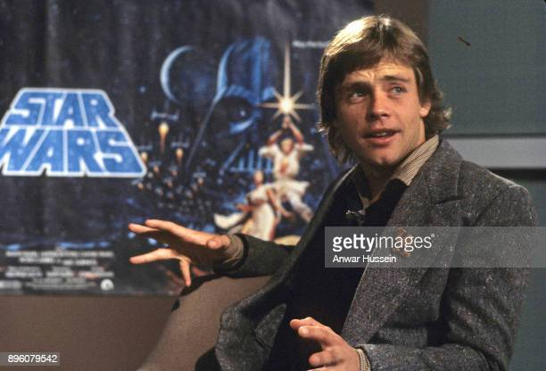 Mark Hamill, who plays Luke Skywalker in Star Wars, during a visit to London on January 01, 1979 in London, England.