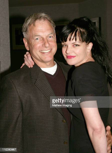 Mark Harmon and Pauley Perrette during CBS Paramount Network Television presents For Your Consideration screening of NCIS at Leonard H Goldenson...