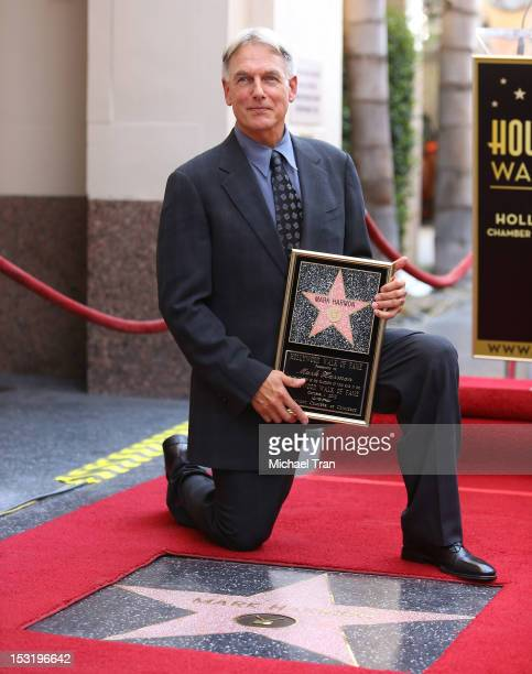 Mark Harmon attends the ceremony honoring him with a Star on The Hollywood Walk of Fame held in front of Dillon's Irish Pub on October 1 2012 in...