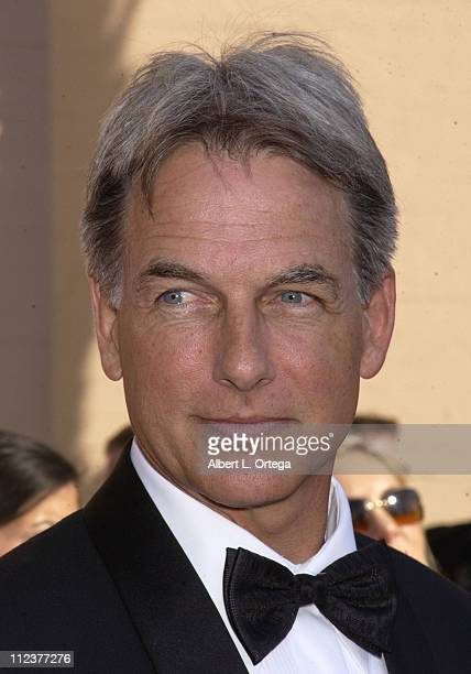 Mark Harmon during 2002 Creative Arts Emmy Awards Arrivals at Shrine Auditorium in Los Angeles California United States