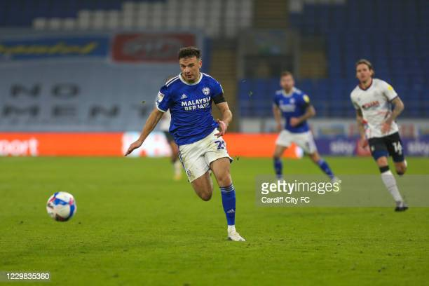 Mark Harris of Cardiff City FC during the Sky Bet Championship match between Cardiff City and Luton Town at Cardiff City Stadium on November 28, 2020...