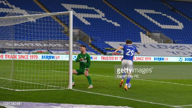 Mark Harris of Cardiff City FC during the Sky Bet Championship match between Cardiff City and Preston North End at Cardiff City Stadium on February...