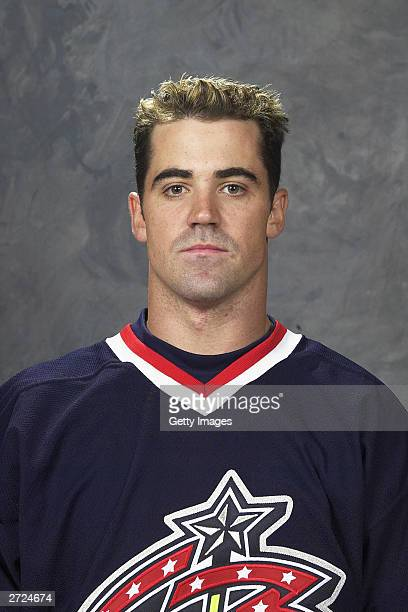 Mark Hartigan of the Columbus Blue Jackets poses for a portrait on September 15 2003 at Nationwide Arena in Columbus Ohio
