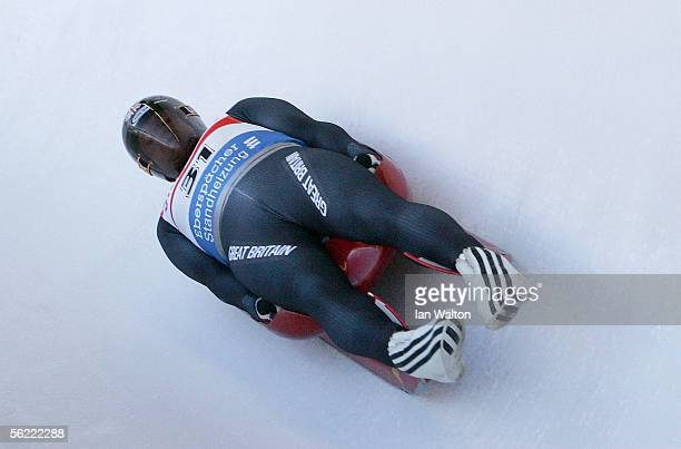 Mark Hatton of Great Britain in action during the training session for the Viessmann Luge World Cup on November 18 2005 in Cesena Pariol near Torino...