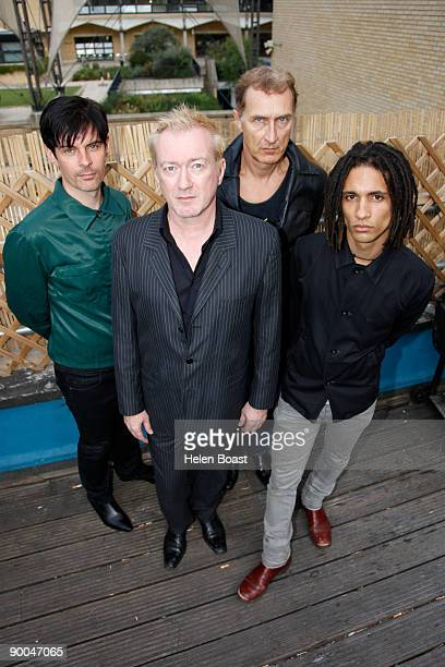 Mark Heaney Andy Gill Jon King and Thomas Mcneice of the band Gang Of Four pose at The Macbeth on August 24 2009 in London England