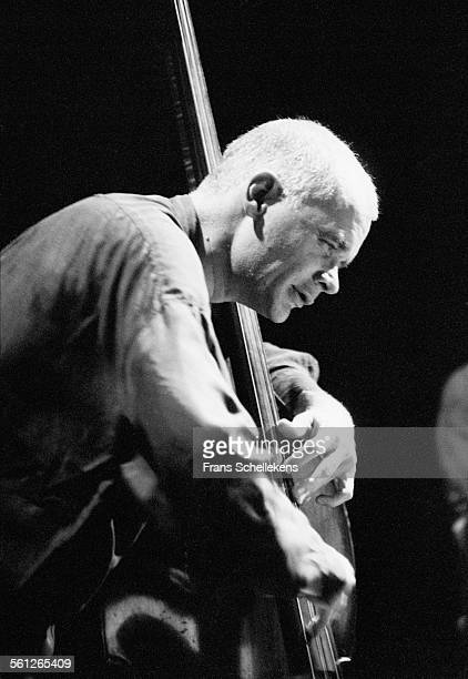 Mark Helias, bass, performs during the Jazzmarathon on October 13th 1995 in the Oosterpoort in Groningen, Netherlands.