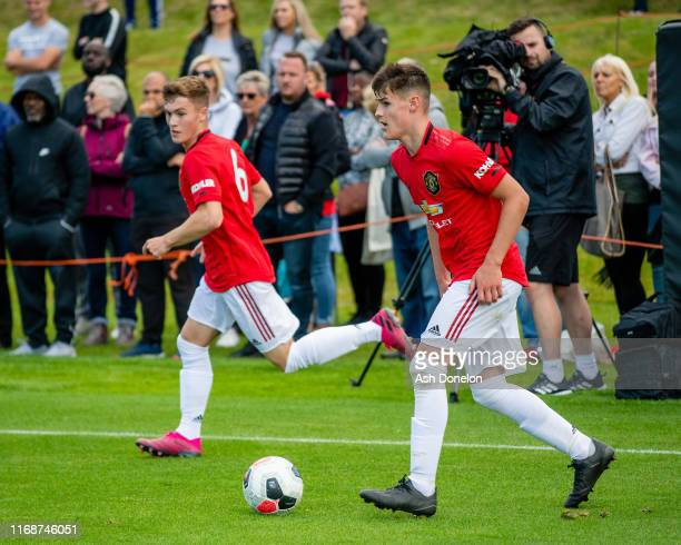 Mark Helm of Manchester United U18s in action during the U18 Premier League match between Wolverhampton Wanderers U18s and Manchester United U18s at...