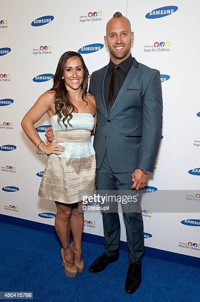 Mark Herzlich and Danielle Conti attend the 13th Annual Samsung Hope For Children Gala at Cipriani Wall Street on June 10 2014 in New York City
