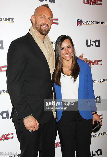Mark Herzlich and Danielle Conti attend the 3rd Annual NFL Characters Unite at Sports Illustrated on January 30 2014 in New York City