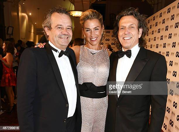 Mark Hix Anastasia Webster And Stephen Attend The GQ Men Of Year Awards At