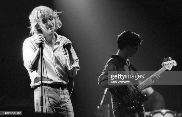 Mark Hollis and Paul Webb of Talk Talk perform on stage at Vredenburg Utrecht Netherlands 20th August 1986