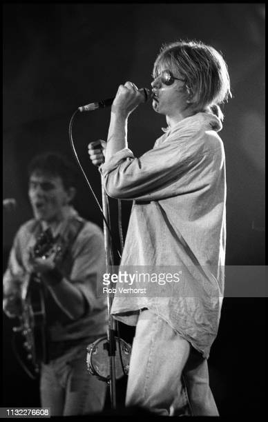 Mark Hollis of Talk Talk performing on 'Veronica's Rocknight' TV show Ahoy Rotterdam Netherlands 21st September 1984