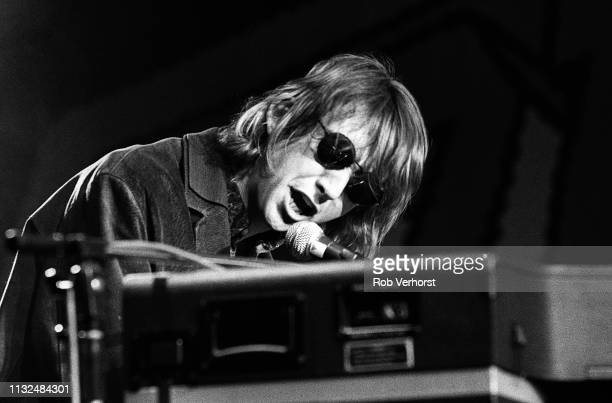 Mark Hollis of Talk Talk performs on 'Countdown' TV show Bussum Netherlands 25th February 1986