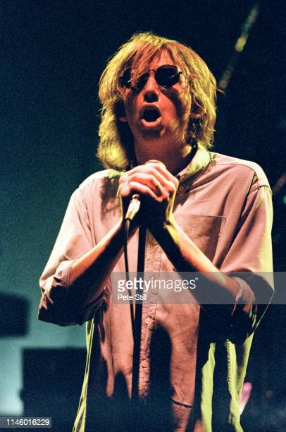 Mark Hollis of Talk Talk performs on stage at Hammersmith Odeon on May 7th 1986 in London England