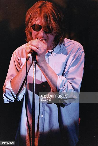 Mark Hollis of Talk Talk performs on stage at Hammersmith Odeon on May 7th 1986 in London United Kingdom