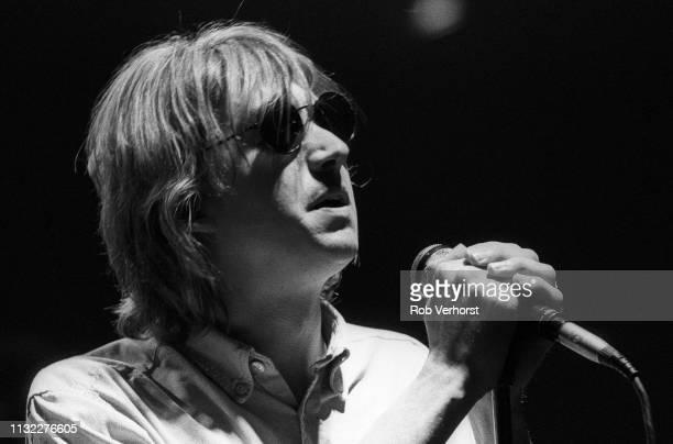 Mark Hollis of Talk Talk performs on stage at Vredenburg Utrecht Netherlands 27th March 1986