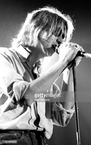 Mark Hollis of Talk Talk performs on stage at Vredenburg Utrecht Netherlands 20th August 1986