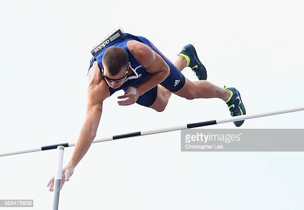 Mark Hollis of USA and Americas in action in the Mens Pole Vault during the IAAF Continental Cup Day 2 at the Stade de Marrakech on September 14 2014...