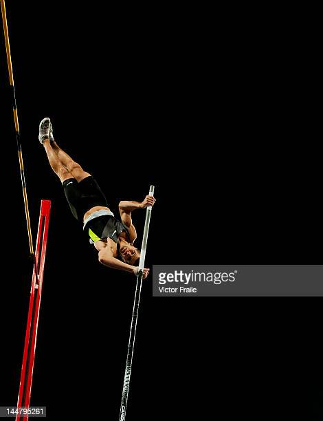Mark Hollis of USA competes in the Men Pole Vault during the Samsung Diamond League on May 19 2012 at the Shanghai Stadium in Shanghai China