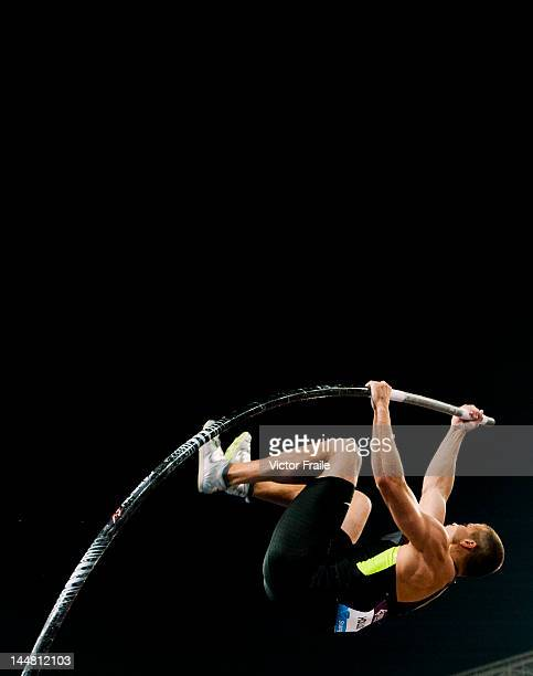 Mark Hollis of USA competes in the Men's Pole Vault during the Samsung Diamond League on May 19 2012 at the Shanghai Stadium in Shanghai China