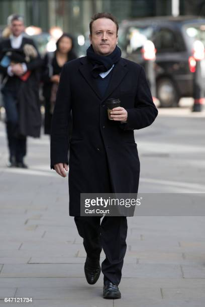Mark Holyoake arrives at the High Court on March 2 2017 in London England Christian Candy and his brother Nick are being sued by businessman Mark...