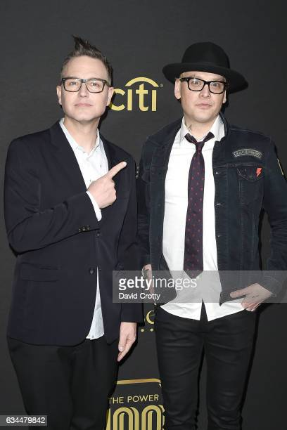 Mark Hoppus and Matt Skiba attend the 2017 Billboard Power 100 at Cecconi's on February 9 2017 in West Hollywood California