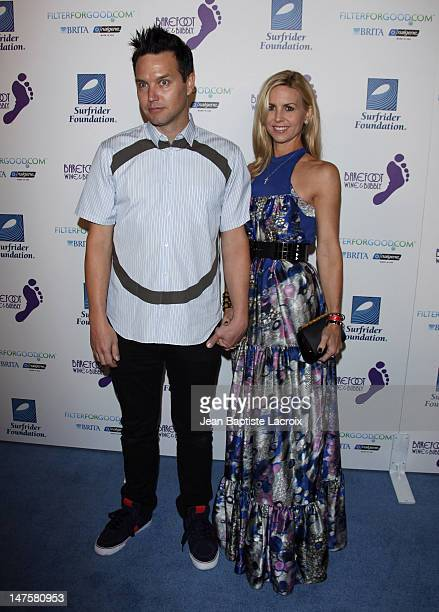 Mark Hoppus and Skye Everly arrive at The Surfrider Foundation's 25th Anniversary Gala at the California Science Center's Wallis Annenberg Building...