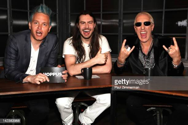 Mark Hoppus Andrew WK and Dee Snider visit 'Hoppus on Music' at fuse Studios on April 3 2012 in New York City