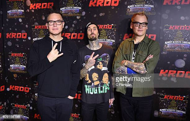 Mark Hoppus Josh Dun Travis Barker and Matt Skiba attend 1067 KROQ Almost Acoustic Christmas 2016 Night 1 at The Forum on December 10 2016 in...