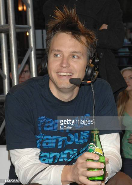 Mark Hoppus of +44 during KROQ Almost Acoustic Christmas 2006 - Night 1 - Backstage at Gibson Amphitheater in Universal City, California, United...
