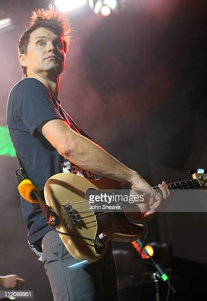 Mark Hoppus of 44 during KROQ Almost Acoustic Christmas 2006 Night 1 Show at Gibson Amphitheater in Universal City California United States