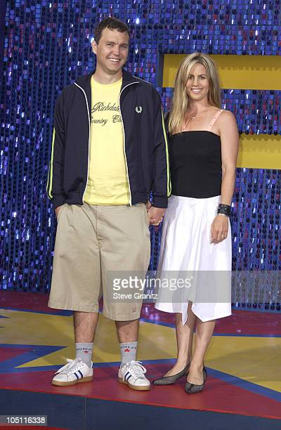 Mark Hoppus of Blink 182 and wife during 2003 MTV Movie Awards - Arrivals at The Shrine Auditorium in Los Angeles, California, United States.