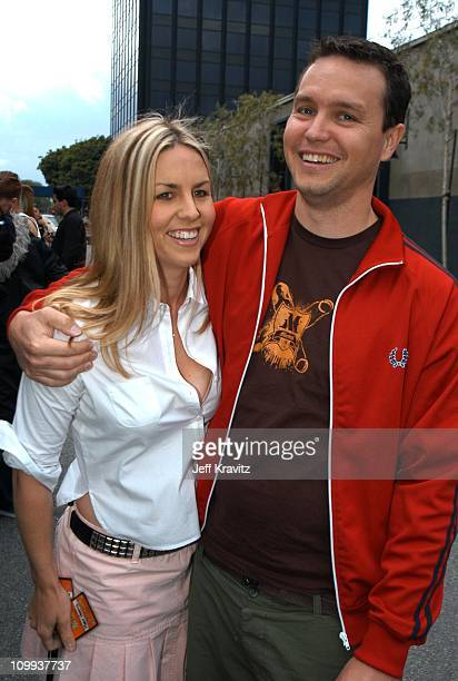 Mark Hoppus of Blink 182 and wife Skye Everly during MTV Icon Metallica Arrivals at Universal Studios Stage 12 in Universal City CA United States