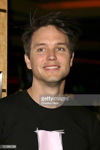 Mark Hoppus of Blink 182 during Blink 182 Display Unveiled at Hard Rock Hotel Casino at Hard Rock Hotel and Casino in Las Vegas Nevada United States