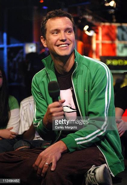 Mark Hoppus of Blink 182 during Fischerspooner and Mark Hoppus of Blink 182 Visit Fuse's Daily Download April 7 2005 at Fuse Studios in New York City...