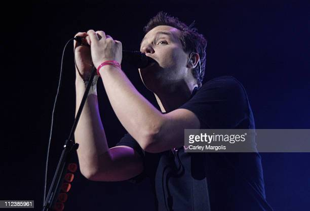 Mark Hoppus of Blink 182 during KRock ClausFest 2003 Day One at Hammerstein Ballroom in New York City New York United States