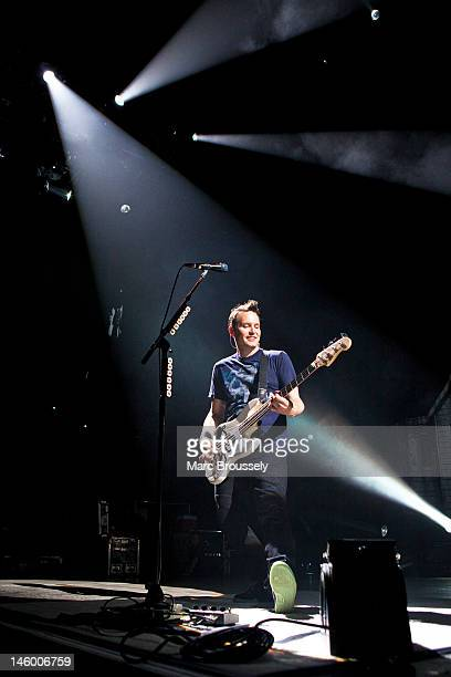 Mark Hoppus of Blink 182 performs on stage at O2 Arena on June 8 2012 in London United Kingdom