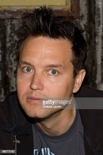 Mark Hoppus of Blink 182 sells tickets to an upcoming concert at the House of Blues Sunset Strip on May 30 2009 in West Hollywood California